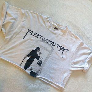 Vintage Cropped Fleetwood Mac Concert Tee